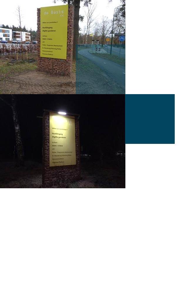 RXLight ontwikkeld speciale mast voor naambord in de gemeente Doorn.
